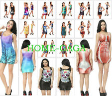 NEW Fabulous Funky Casual Dancer Galaxy Vest TOP Gothic HOT Clubbing Party Dress