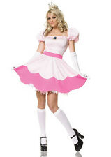 Leg Avenue Sexy Pink Princess Peach Toadstool Women's Halloween Costume Outfit