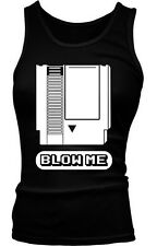 Blow Me Funny Old School Video Gamer Nerd Geek Sexual Humor Boy Beater Tank Top