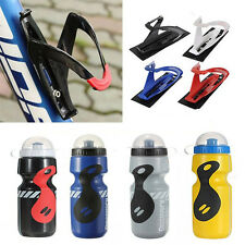 Outdoor Sports Bike Bicycle Drink Water Bottle 25oz 750ML + Holder Rack Cage