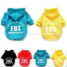 Lovely Puppy Pets FBI Pattern Coat Hoodie Clothes Dogs Sweater Size S-XXL