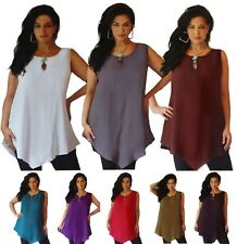 @D194 CAMI V HEM TOP CUTE SLEEVELESS RAYON LAGENLOOK MADE 2 ORDER CHOOSE COLORS