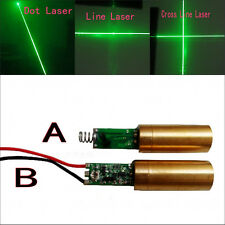 12mm Green Dot/Line/Cross Line Laser Module with Driver Spring/Wire 10mW 350mA