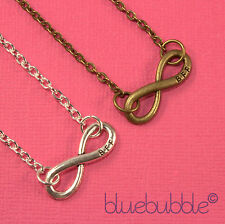 FUNKY BEST FRIENDS FOREVER INFINITY NECKLACE SWEET VINTAGE CUTE FUN GIFT BFF TXT