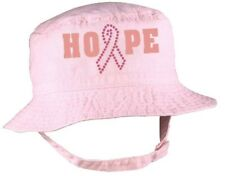 """Breast Cancer Awareness """"Hope"""" Rhinestone Accented Infant / Toddler Bucket Hat"""