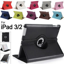 360 Rotating PU Leather Case Smart Cover Swivel Stand For Apple New iPad 4 3 2