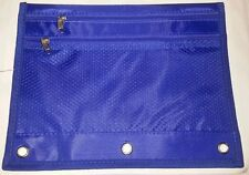Mesh Front Zippered Pencil Case Pouch Bag for 3 Ring Binder 2 Compartment