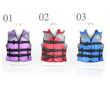Adult Swimming Polyester Foam Life Jacket Vest Whistle Foam Fully Enclosed