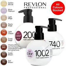 Nutri Hair Color Conditioner Creme. All Colours Stocked. 250ml. Revlon