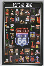 "Antique BRAND NEW 8X12"" USA Route 66 Tin Sign Retro Wall Decor for Home or Bar"