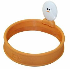 Roundy Silicone Egg Ring w/ Handle - Round Pancake Sandwich Maker Eggy Joie