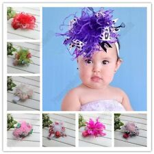 Vogue Headband Cute Baby Toddler Girls Hairband Feather Flower Elastic Hair Band
