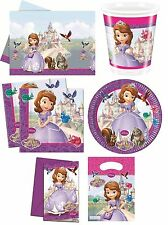 DISNEY SOFIA (The First/Princess) PARTY RANGE (Tableware/Decorations/Balloons)