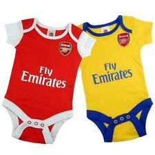 Arsenal FC Authentic EPL Baby Onesies 2 pack - NEW!