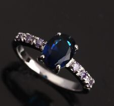 Blue Sapphire Topaz GORGEOUS Amethyst Gems Silver Rings US#Size5 6 7 8 9 T0067