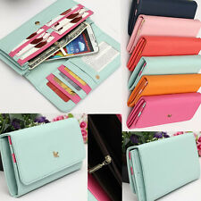 Women Wallet Credit ID Card Cash Coin Holder Pouch Purse Zipper Phone Case Cover