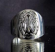 STERLING SILVER RING COAT OF ARMS KLINGON CARDASIAN ALLIANCE HIGH POLISHED