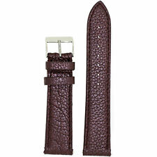 Watch Band Plum Purple Metallic Leather Padded Built-In Spring Bars LEA 560