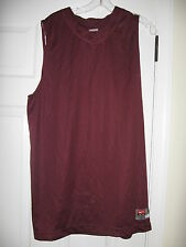Nike Madness Mens Basketball Game Jerseys Maroon with White Small to 3XL NEW