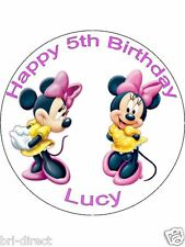 Minnie Mouse Cake & Cupcake Topper Toppers Personalised Choice Rice Paper