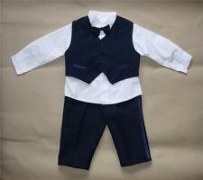 BABY BOY OUTFIT, Blue Special Occasion Suit, Wedding,Christening, Age 0-3 Years