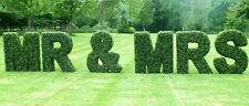 Artificial Boxwood Topiary Letters ~ Signage ~Company ~Restaurant ~Wedding theme