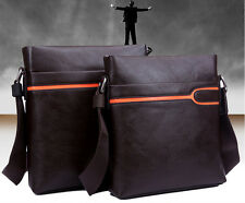 2014 Mens Faux Leather Shoudler Messenger Bags Briefcase Cross Body Bags Brown