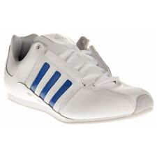New Mens adidas White Lanto Leather Trainers Tennis Style Lace Up