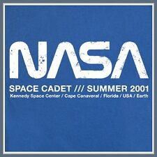 NASA Space Cadet T SHIRT blue vintage logo geek Humor ufo science math Funny Tee