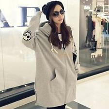 2014 Korean Skull Print Oversized Thickened Cotton Women's Hoodie Coat Jackets