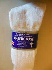 Brand New, Never Worn Loose Fitting Diabetic Socks, White, Size 10-13