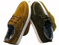Mens Boys Oxford Casual Suede Lace Ankle Loafers Sneakers Athletic Boots Shoes