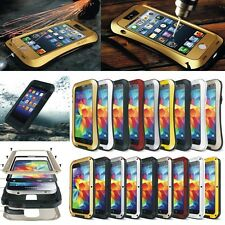 Aluminum Metal Gorilla Temered Glass Shockproof Waterproof Case Cover for Phone