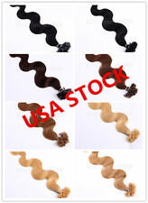 USA stock! 20 inch Remy Nail Tip Bodywavy Hair Extensions 50g,3-5 days delivery!