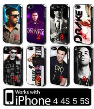 Drizzy Drake iPhone 4 4s 5 5s Hard Case Cover Hip hop R&B Rapper Singer Dzd1