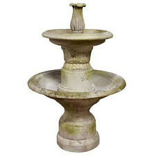 2 Tier Water Fountain by Orlandi Statuary-Faux Concrete-Custom Finishes