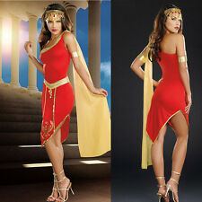Sexy Egyptian Princess Outfit Adult Cleopatra Halloween Goddess Costume RED
