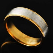 Gold F Womens mens wedding band stainless steel ring above knuckle size8 9 10 11