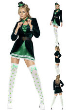 Sexy GREEN Steampunk Lady Halloween Costume Gothic Adult WITH SUIT