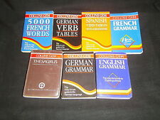 COLLINS GEM: THESAURUS, VERB, GRAMMAR: GERMAN, FRENCH, SPANISH, ENGLISH