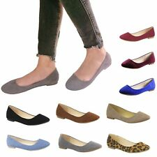 New Women Comfort Classic Slip On Casual Slouchy Ballet Flat Shoes