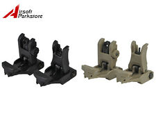 Tactical Flip-Up BackUp Front and Rear Sight Set for 20mm Rail