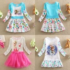 NWT Frozen Disney Princess Elsa&Anna Holiday Flower Girls Clothing Dress Sz 2-8y