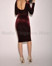 Sexy Long Sleeves Party Bodycon Clubwear Midi Evening Slim Cocktail Dress #684