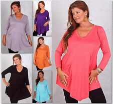 @D534 BLOUSE TOP ANGLE HEM POCKETS JERSEY LAGENLOOK LOTUSTRADERS MADE 2 ORDER