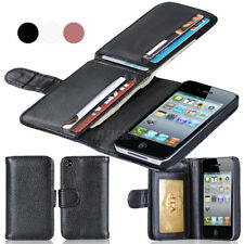 Folio Flip PU Leather Multi Card Slot Cash Pocket Wallet Phone Case for iPhone
