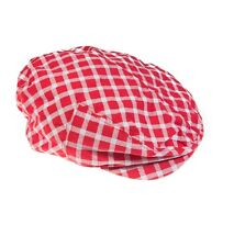 Adorable Red Plaid Cabbie Hat  Boy 4 months - 7 years Toddler Baby