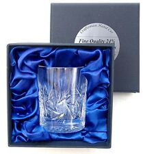 24% LEAD CRYSTAL GLASS WHISKY TUMBLER LUXURY BOX 180ml Ideal New Gift 25%OFF