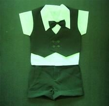 BABY BOY OUTFIT, Dark Green, 4 Piece Special Occasion Suit, Wedding, Age 0-3 Yrs