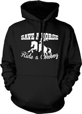Save A Horse Ride A Cowboy Country Rodeo Music Funny Lyrics Hoodie Pullover